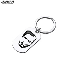 Marvel I Love You 3000 Times Keychain Iron Man Tony Stark Tag Key Chain The Avengers