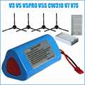 7 pcs/lot pièces de rechange de batterie Li-ion pour Chuwi ilife X3 V3 V5 V5PRO V5S CW310 V7 ecovacs deebot CEN250 11.1V 2600mAh