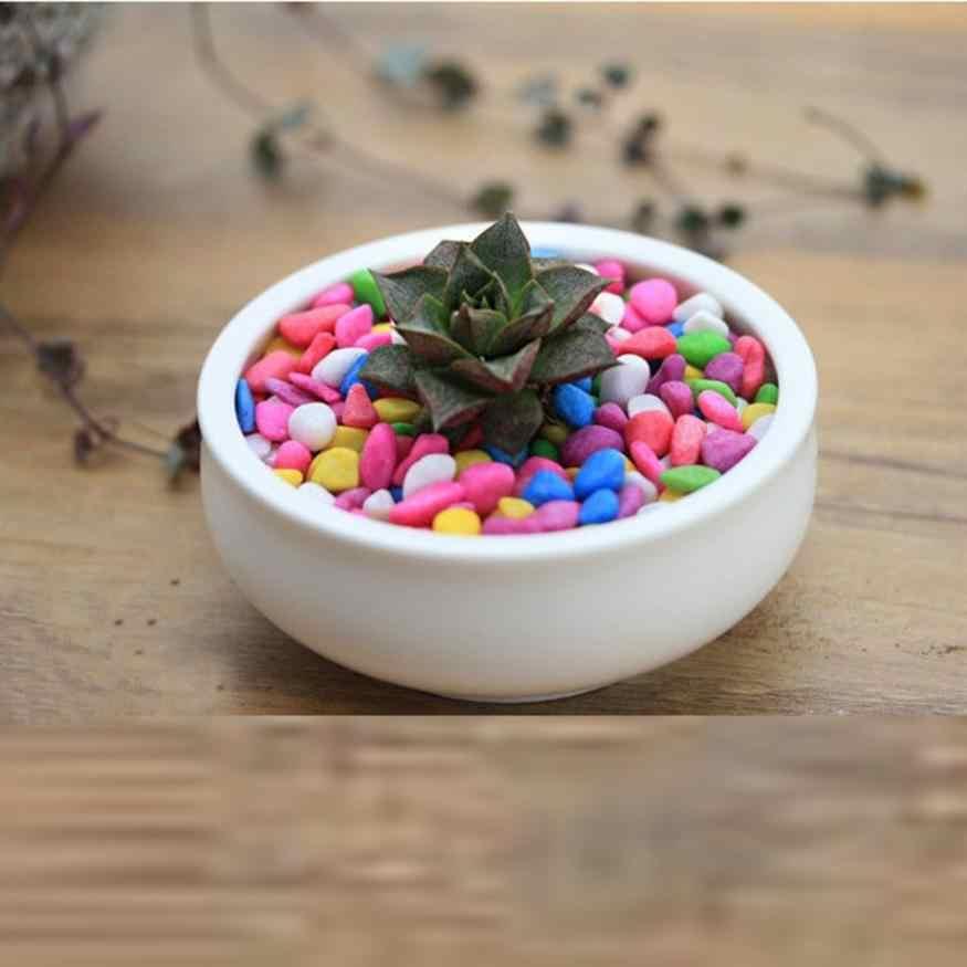 Bonsai Colorful Batu 50G Berair Alami Biji Biji Bunga Ass Hidup Batu Bonsai Batu Warna-warni Alami DropShipping 2018a4
