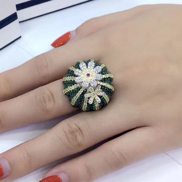 Designer Fashion 925 Sterling Silver Jewelry 3A Cubic Zirconia Party Ring