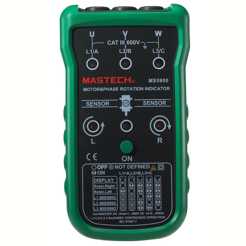 Mastech Ms5900 3 Motor Meter Sequence Tester Led Field