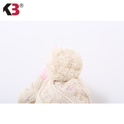 Women Cable Knit Pom Pom Bobble Beanie Hat Fashion Ball Top Winter Knit Hat (3)