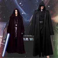 New Darth Vader Terry Jedi Black Robe Star Wars Jedi Knight Hoodie Cloak Halloween Cosplay Costume