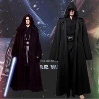 New Darth Vader Terry Jedi Black Robe Star Wars Jedi Knight Hoodie Cloak Halloween Cosplay Costume