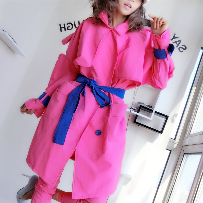 Oversize Giacca Donne del Rivestimento della Molla Giacca A Vento Cappotto Disegni di Patch Harajuku Allentato Bomber Streetwear Casual Cappotto Di Base - 3