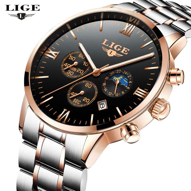 2017 NEW LIGE Men s font b Watches b font Top Brand Luxury Men Fashion font