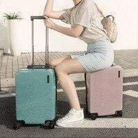 20''24''Zipper Glittering Luggage Surface, PC Shell & Metal Drawbar Rolling Luggage Bag Trolley Case Travel Suitcase Wheels