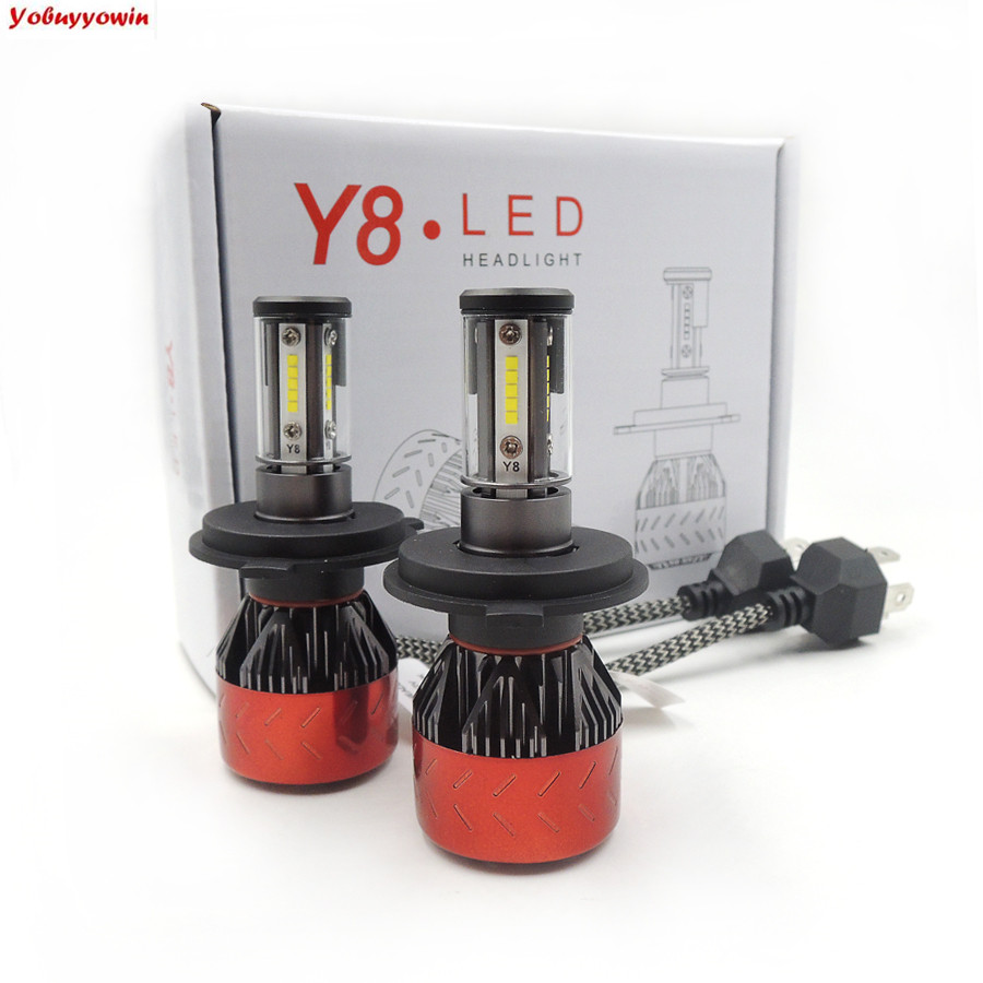 H4/9003/HB2 Hi/Lo LED Headlight Bulbs Hi/Lo Beam Auto Headlamp Dual Beam Car Headlight 160W 6000K 18000LM Super Bright ZES Chips