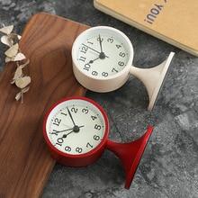 ¡Novedad de 2019! reloj despertador silencioso moderno de Metal, reloj despertador Retro de sobremesa de cuarzo para decoración del hogar