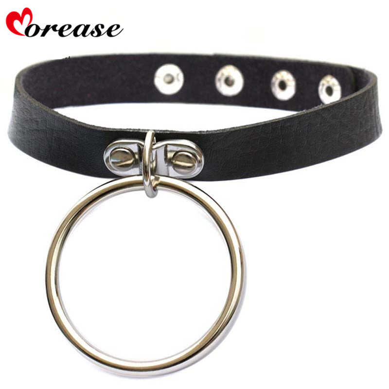 Buy Morease Punk Style Neck Ring Leather Necklace bdsm Sex Toys Women Bondage Adult Games Erotic Sexo Toy juguetes harness