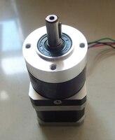 42mm Planetary Gearbox Geared Stepper Motor Ratio 10:1 Nema17 L 63mm 1.5A CNC 3D Printer