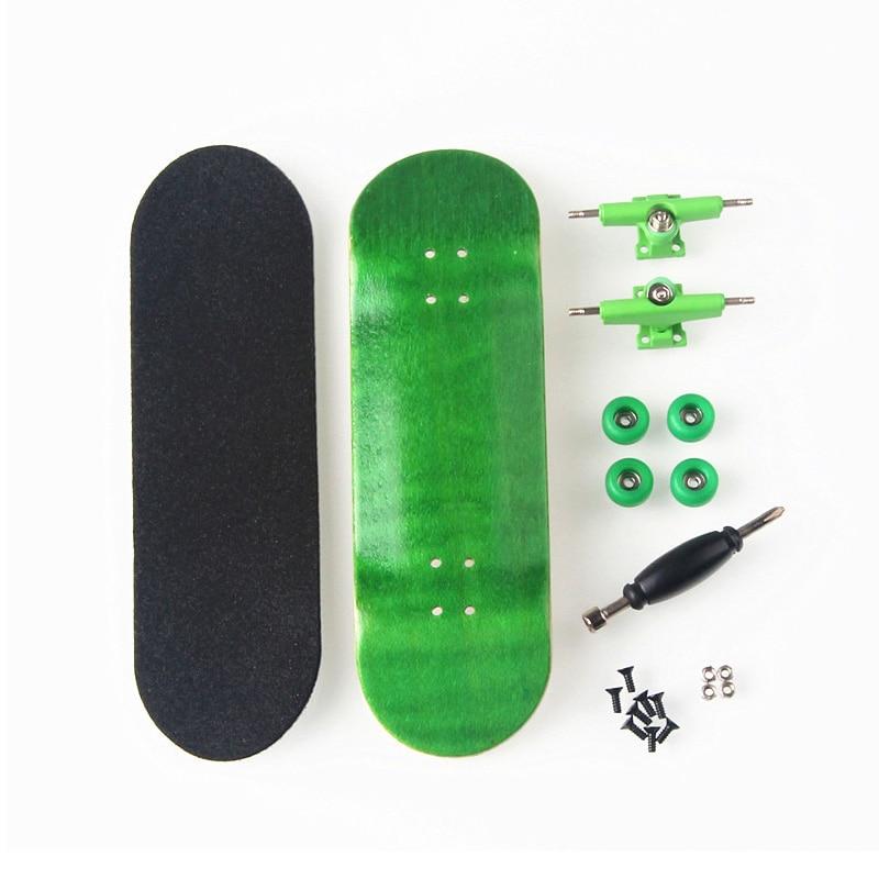 New Creative Finger Skateboard 8 Color Skate Child Finger Toys Professional Type Bearing Wheels Skid Pad Maple Wood Skate