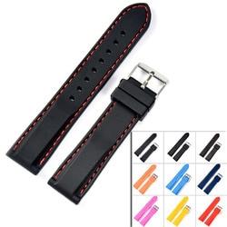 New 18mm 20mm 22mm 24mm silicone rubber watchbands strap dive sport watch bands waterproof watchstrap belt.jpg 250x250