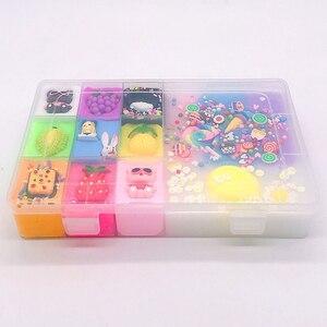 Image 3 - 500 ml DIY nuevos personajes Slime arcilla suave elástico fruta muñeca limo niños juguetes para niños Regalo de Cumpleaños de Navidad conjunto