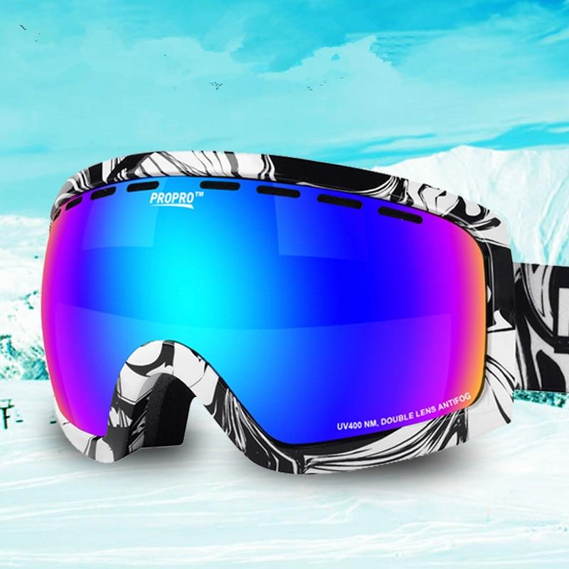 Nouveau professionnel Snowboard lunettes hommes unisexe Double lentille Motocross Ski lunettes hiver extérieur Anti-buée neige Ski lunettes