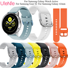 20mm silicone strap For Samsung Gear S2/Galaxy 42mm smart watch Quick release bracelet For Samsung Galaxy Watch Active band excellent quality 20mm quick release watch band strap for samsung galaxy gear s2 classic stainless steel strap bracelet