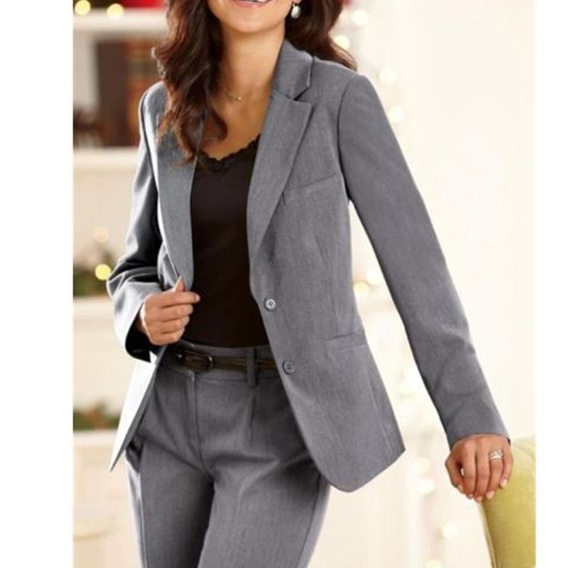 Female suit dress Notch Lapel font b Women s b font Business Office Tuxedos font b