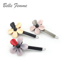 French Elegance Hair Accessories Flower Colorful Acetate Sheets  Clips For Women Hairpins Rim Handmade Hairgrips