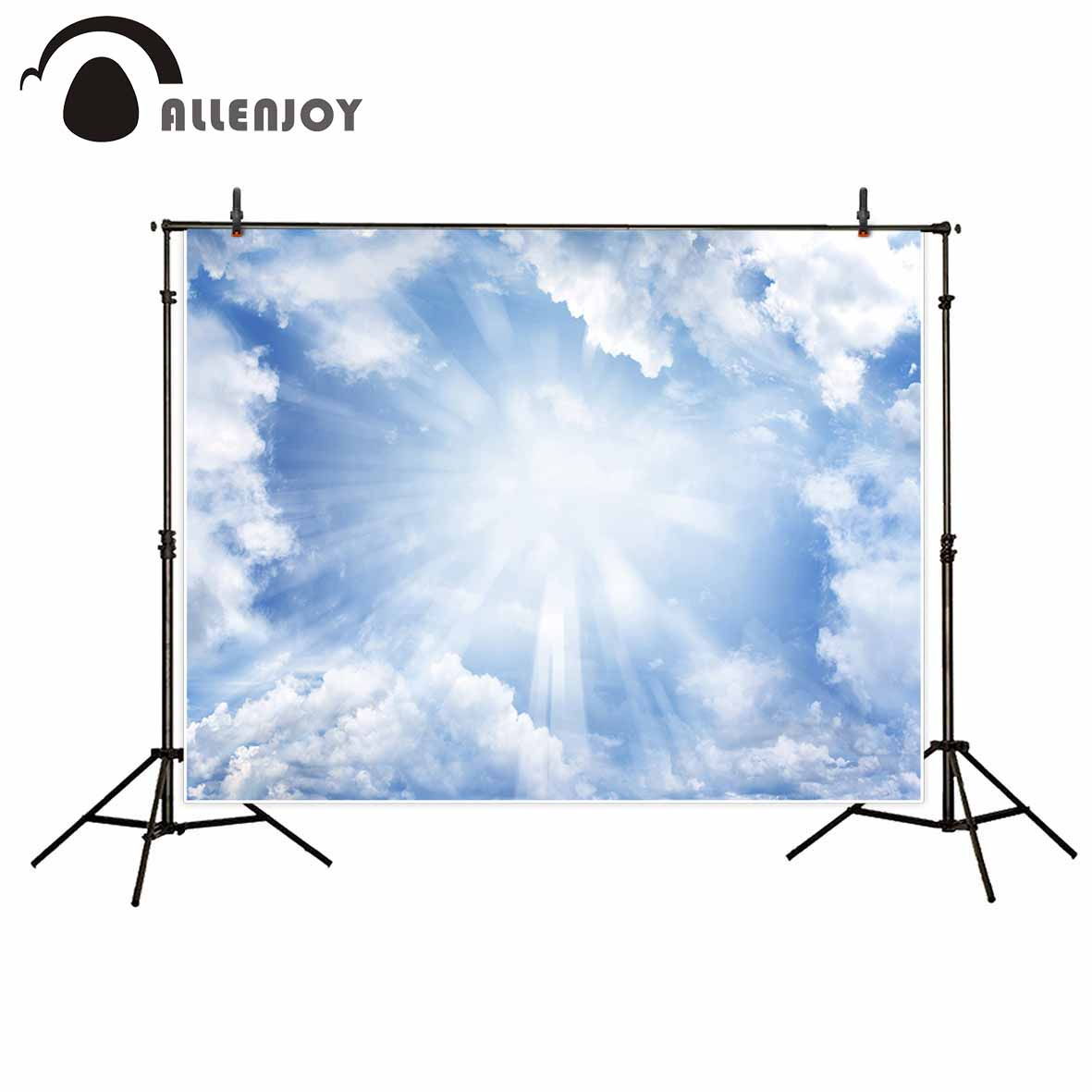 Allenjoy backdrop for photo sky sunshine cloud natural photography background newborn printed photobooth computer printing