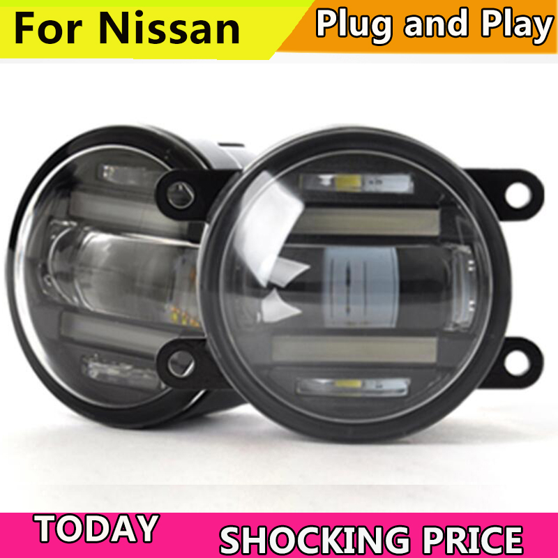 Car Styling Fog Lamp for Nissan PATROL Murano Quest Pathfinder LED Fog Light with DRL
