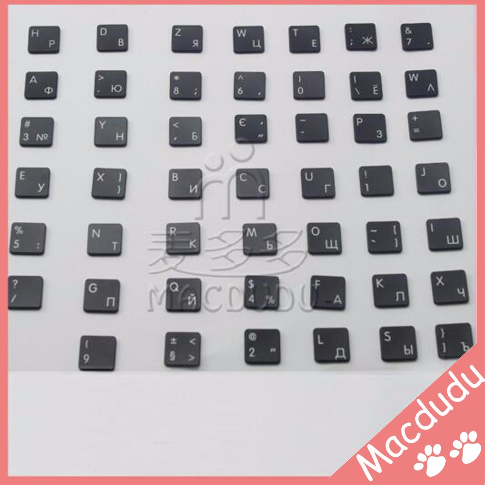 48pcs Keyboard Replacement Keys for 13 Macbook Air A1369 A1466 2011 Russian Layout  AC07 Type *Verified Supplier* russian new laptop keyboard for samsung np300v5a np305v5a 300v5a ba75 03246c ru layout