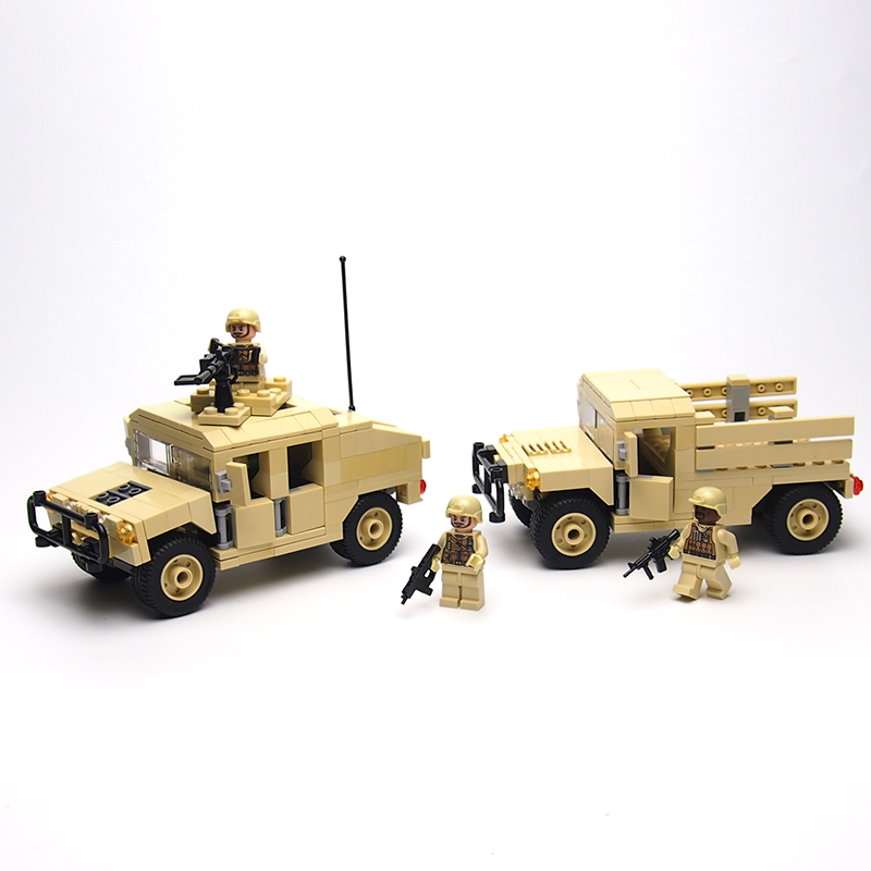 Military Hummer H1 Building Block Bricks SWAT Team Military Kids Toys Models Building Toys for children a history of the laws of war volume 1