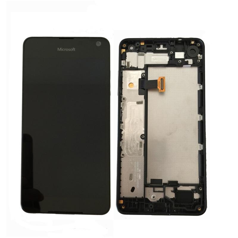 Первоначально Amoled для Microsoft Nokia Lumia 650 ЖК дисплей с сенсорным экраном Цифровая сборка с основой Бесплатная доставка