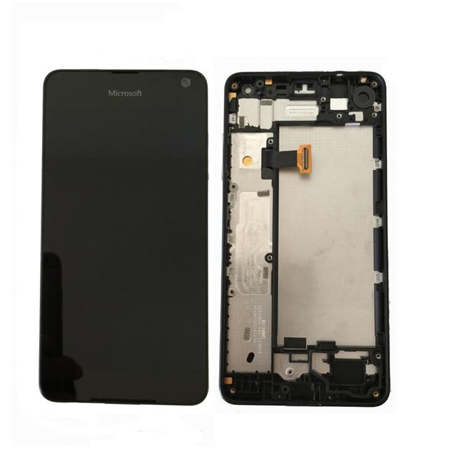 מקורי Amoled עבור Microsoft נוקיה Lumia 650 LCD תצוגה עם מסך מגע Digitizer עצרת עם מסגרת משלוח חינם