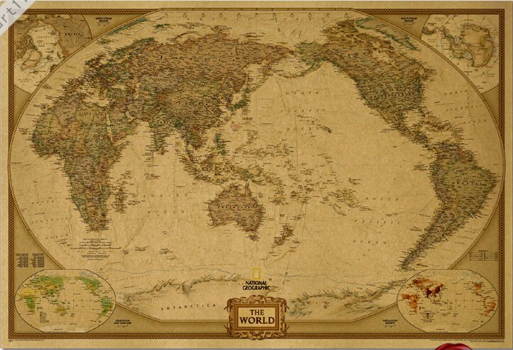 Vintage world map hd original english version poster retro art wall vintage world map hd original english version poster retro art wall home decoration 3042cm cm 62 in wall stickers from home garden on aliexpress publicscrutiny Image collections