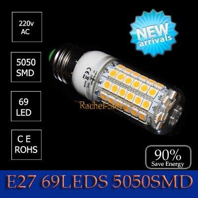 1pcs LED bulb lamp power light corn lamp bulb  E27 LED 3W 48 3528led  4W 27LED 5050chip 7W 48LED 10w 69 leds free shipping