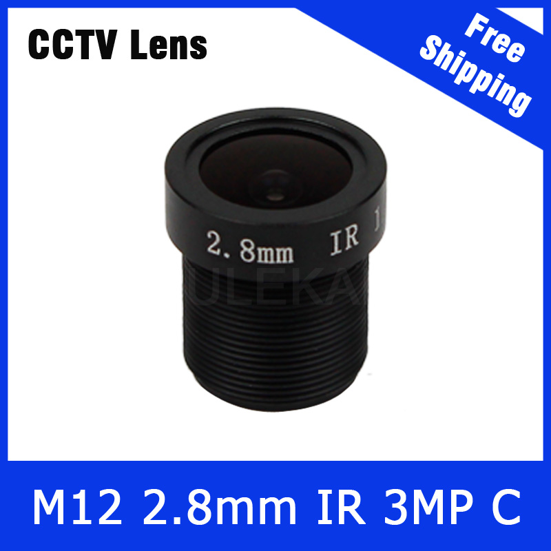 3Megapixel Fixed 1/2.7 inch 140 Wide angle Lens 2.8mm For 720P/1080P/3MP IP camera or AHD/CVI/TVI HD CCTV Camera Free Shipping 3megapixel fixed m12 cctv lens 1 2 5 inch 3 6mm for ov2710 ar0230 720p 1080p ip camera or ahd cvi tvi cctv camera free shipping