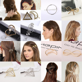 Cream color love simple cute little clip girl hairpin semi-tied hairpin CA CHIC
