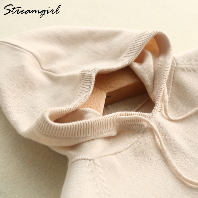 Knit Hoodie Women Sweatshirts Hooded Sweatshirt Womens Knitted Hoodie Sweatshirt For Women Hoodies Sweatshirts Long Sleeve