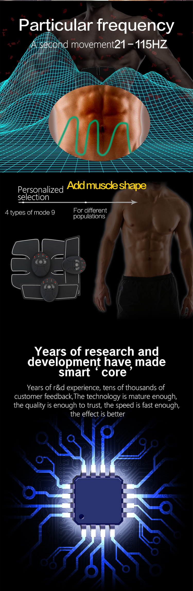 Abdominal machine electric muscle stimulator ABS & Weight loss ems Trainer 1