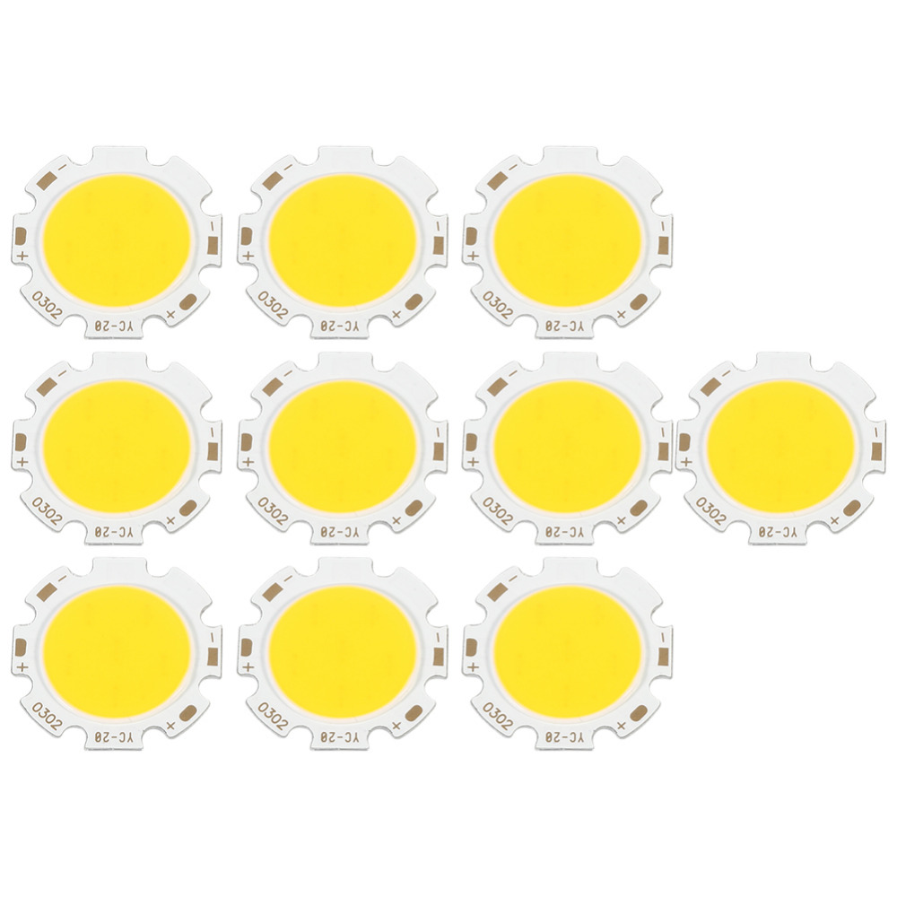 10Pcs/lot Round COB 3W New Brand LED Light Bulb Lamp Light Warm White 3000k/Natural White 4000k/Light White 6500k
