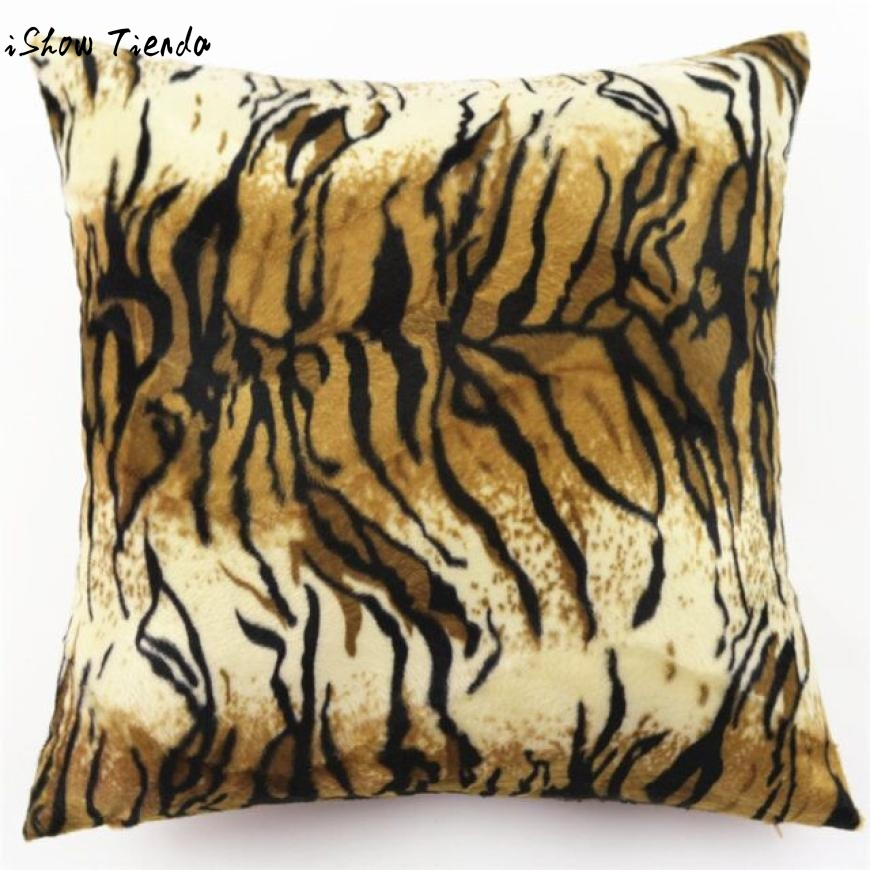 Cushion cover Animal Zebra Leopard Print Pillow Case Sofa Waist Throw Cushion Cover Home Decor Almofada Decorativa
