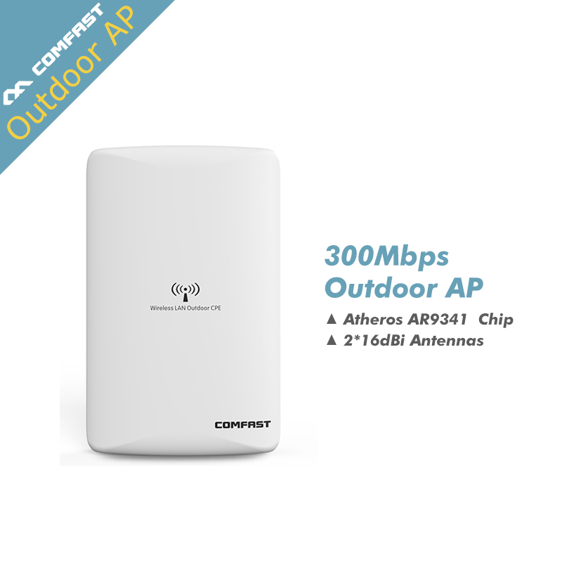 COMFAST CF-WA300 High power outdoor wi fi router Wifi hotspot ATHEROS AR9341 300Mbps wireless access point wifi bridge cpe comfast wireless outdoor router 5 8g 300mbps wifi signal booster amplifier network bridge antenna wi fi access point cf e312a