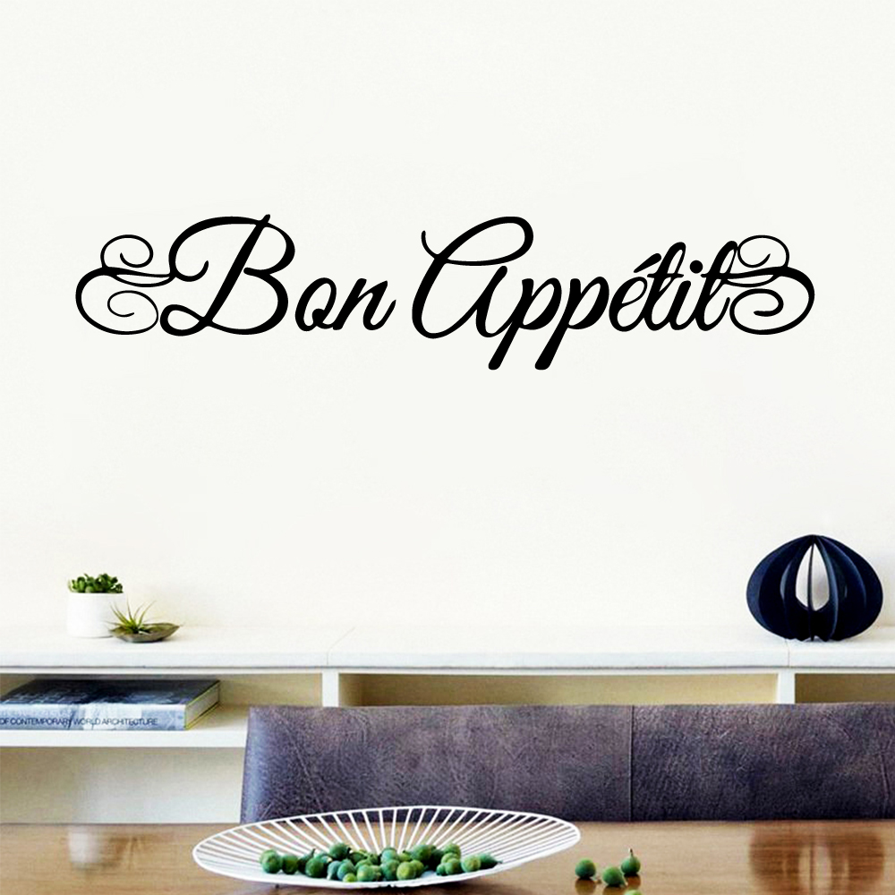 Family bon appetit Stickers Home Decoration Nordic Style Pvc Wall Decals Accessories
