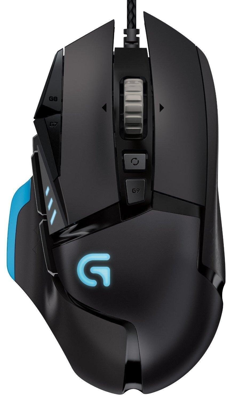 Logitech G502 mouse da gioco Professionale Supporto multi-tasto di programmazione RGB mouse 12000 dpi Weightable per PUBG CSGO FPS