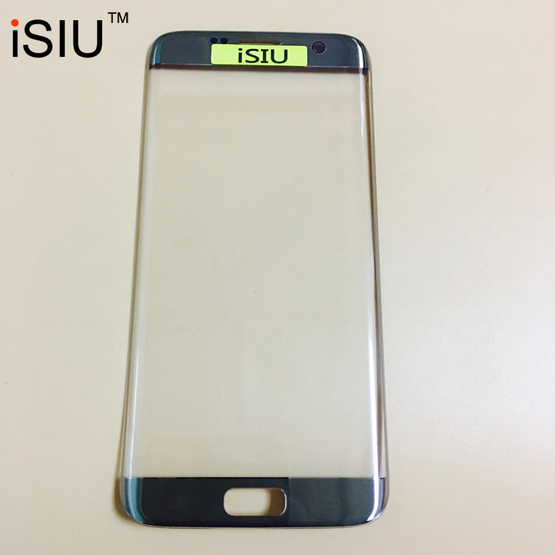 iSIU For Samsung Galaxy S7 edge / S6 edge Touch Screen Glass Mobile Phone Touch Panel Black White Gold NO DIGITIZER LCD DISPLAY