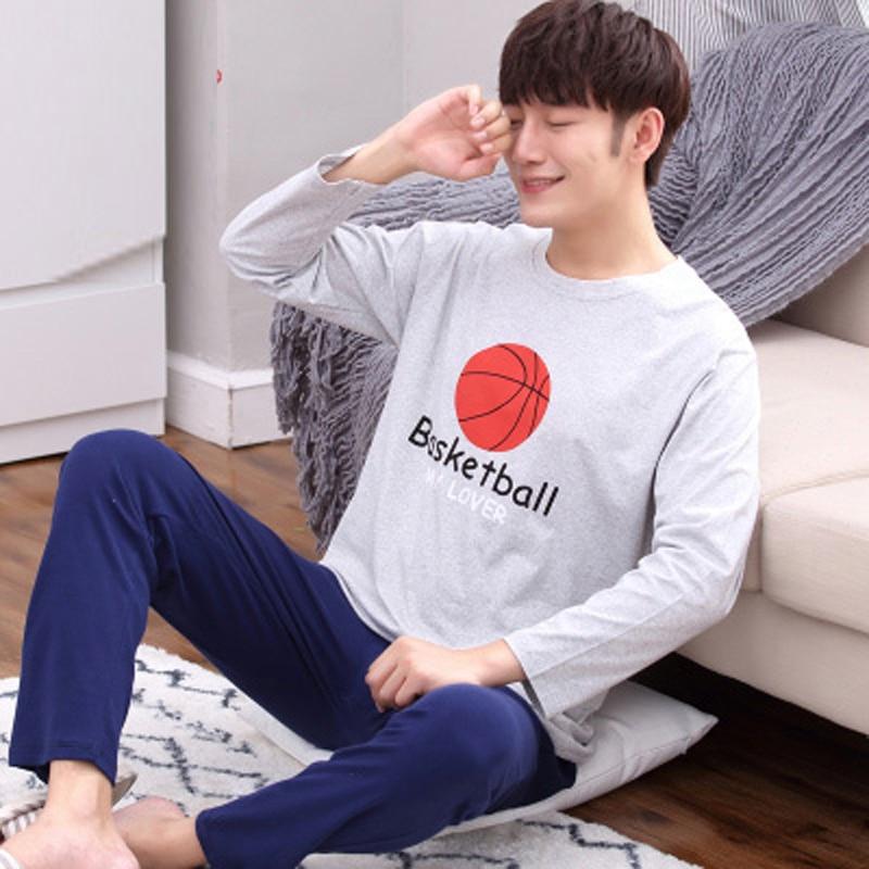 Yidanna Cartoon Pyjamas Sets For Men Boy Long Sleeved Cotton Pajamas Sleepwear Nightshirt Animal Plus Size In Autumn Sleepshirts