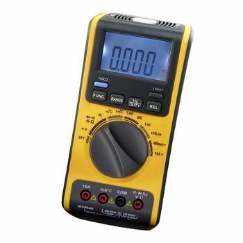 Portable 5in1 Digital Double Insulation Auto and Manual Ranges Multimeter Thermometer Lux Sound Meter 3999 counts