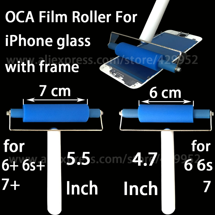 OCA Film Laminating Silicone Roller For iPhone 6 6 Plus 6s 6s Plus 7 7 Plus Glass with Frame LCD Touch Screen Repair Tool 6av2 144 8mc10 0aa0 touch glass with film