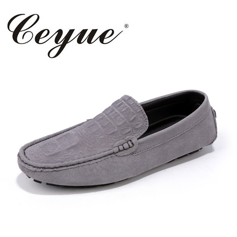 Ceyue Brand Summer Causal Shoes Men Loafers Quality Leather Moccasins Men Driving Shoes Business Flats For Man Large Size 38-46