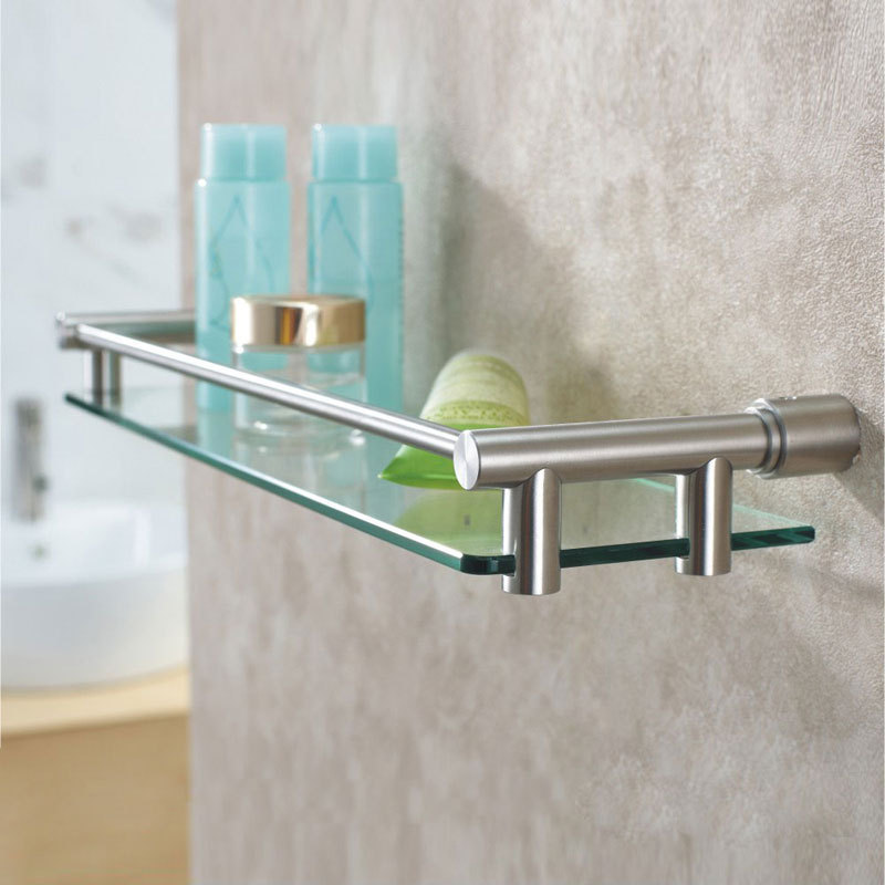 Dikon 304 stainless steel bathroom glass basket shelf storage holder ...