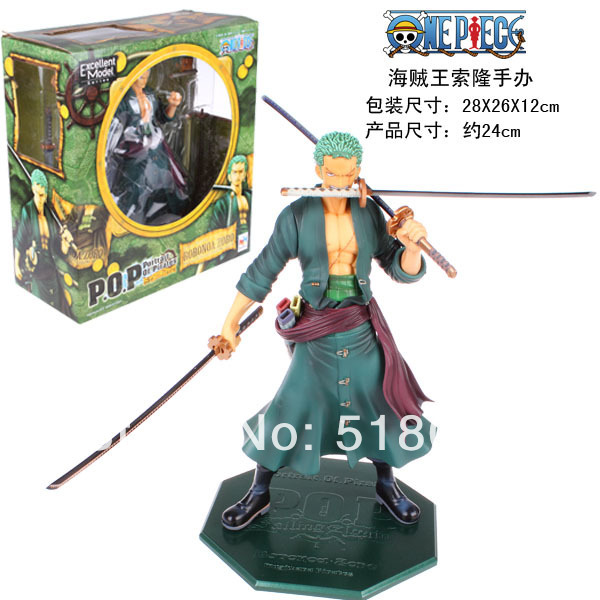 Free Shipping Anime One Piece P.O.P POP Roronoa Zoro After 2 Years PVC Action Figure Collection Model Toy 24cm OPFG168 free shipping cute 4 nendoroid monokuma super dangan ronpa anime pvc acton figure model collection toy 313 mnfg057