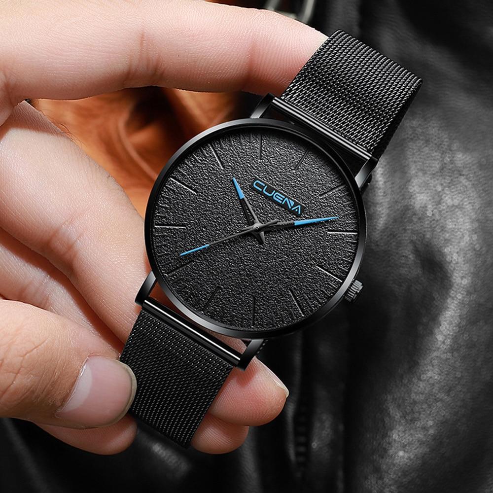 Luxury Ultra Thin Wrist Watches for Men Top Brand Quartz Mal