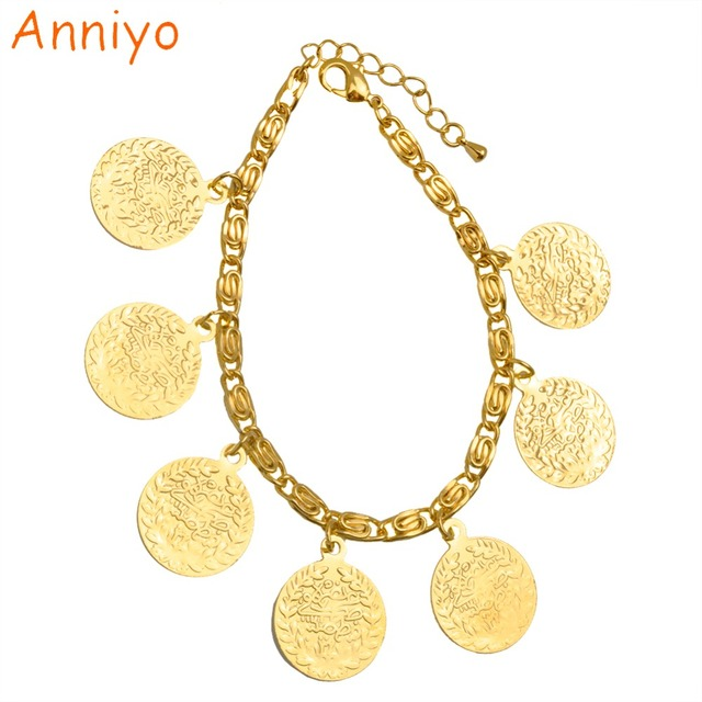 Aliexpress Buy Anniyo 19cm Turkey Coin Bracelet For Women