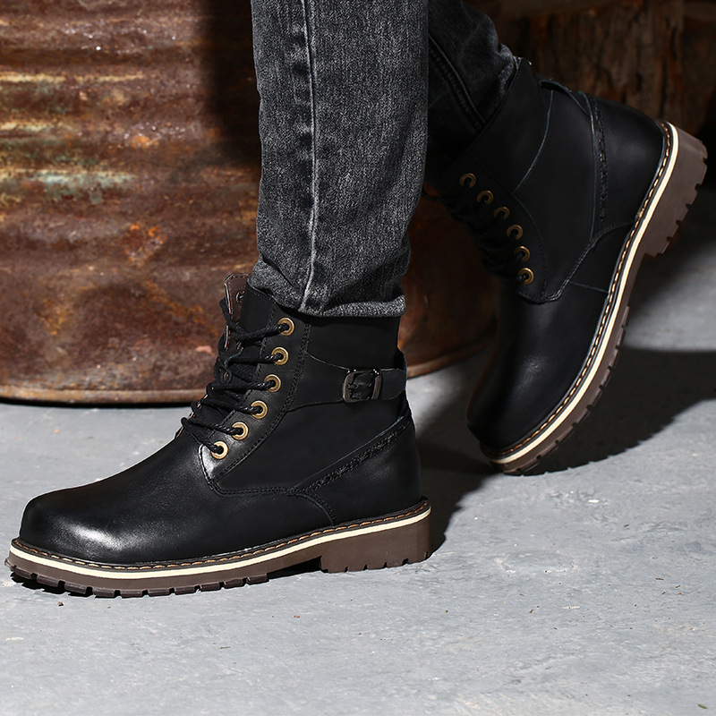 Hot Sale Super Warm Winter Men Boots Genuine Leather Boots Men Winter Shoes Men Military Fur Boots For Men Shoes Zapatos elevator shoes taller 2 56 inch winter genuine leather men boots fashion warm wool ankle boots men snow boots shoes hot sale