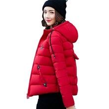 2017 женские зимние с капюшоном Базовая куртка женские осенние черные задний карман теплая куртка Большие размеры 3XL короткая верхняя одежда Casaco feminino